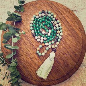 Jewelry - Emperor's Mist Mala Bead Necklace with Tassel